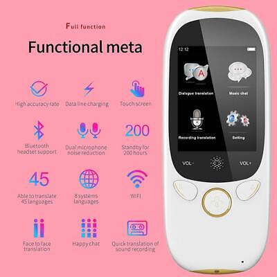 Smart WIFI Instant Voice Translator 45 Languages Real-Time Speech Trans Device