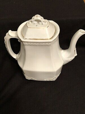 Vintage Powell Bishop Ironstone China Large Coffee/Teapot 9 inches tall
