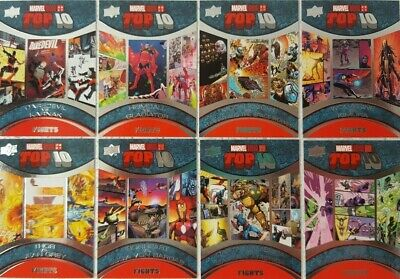 2017 Upper Deck Marvel Annual Trading Card Set  TOP 10 FIGHTS  F1 - 10