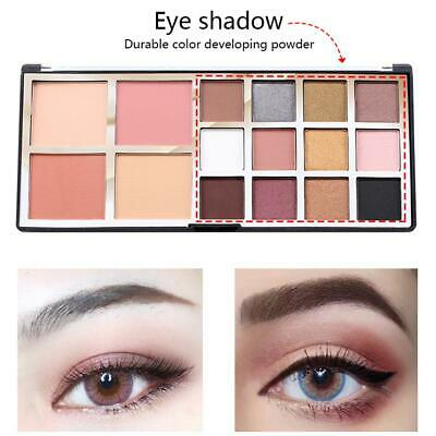 12 Color Matte Shimmer Eyeshadow Palette Smoky Eye Bright Nude Cosmetic Kits