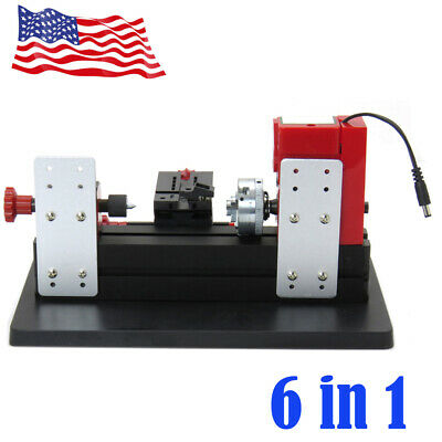 6in1 Lathe DIY Machine Tool Kit Jigsaw Milling Lathe Drilling Machine US Ship