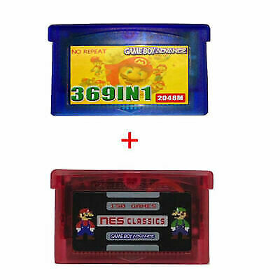 369 in 1 GBA + 150 in 1 NES Games For GBA Nintendo Multicart Cartridge NDS SP
