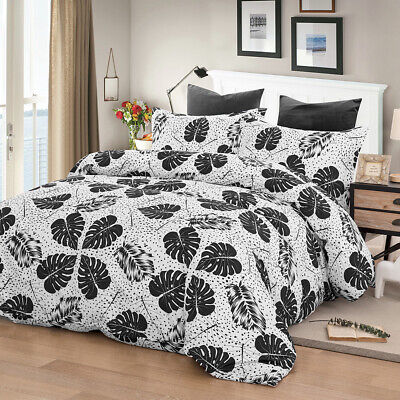 Striped Quilt Doona Duvet Cover Set Single/Double/Queen/King Size Bed Pillowcase