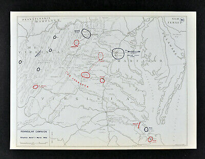 West Point Civil War Map - Jackson's Valley Campaign May 20 Washington McDowell