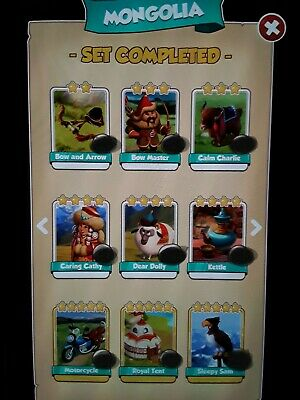 Coin Master MONGOLIA Full Set X6 Cards Excluding Golds + High Raids for 24hrs!