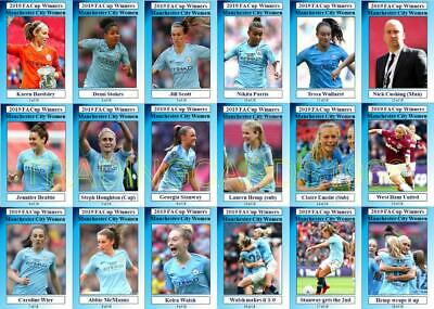 Manchester City Women 2019 Womens FA Cup winners football trading cards