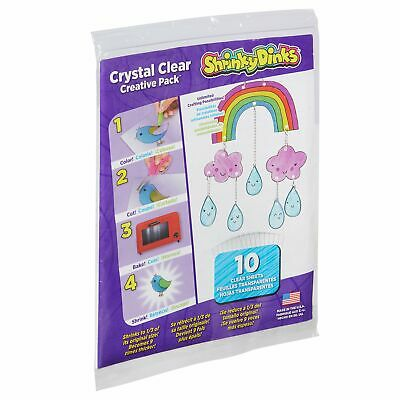 Newest Shrinky Dinks Creative Pack 10 Sheets Crystal Clear