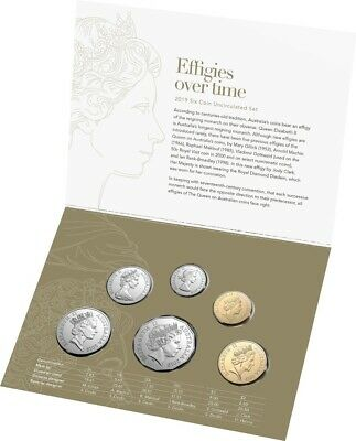 Australia 2019 Uncirculated – Effigies Over Time Year Set, 6 Diff QEII Heads