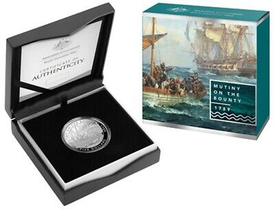Australia: 2019 $5 Mutiny and the Rebellion - Mutiny On The Bounty Silver Proof
