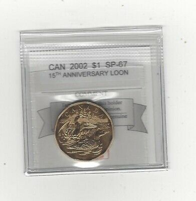 **2002** Coin Mart Graded Canadian, Loon, One Dollar, **SP-67**15th Anniversary