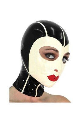 Latex Hood Rubber Gummi Catsuit Unique Queen White Sexy Cool Mask Customize .4mm