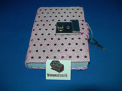 New Purple Sequin Diary With A Built In Lock And 1 Key Free Shipping