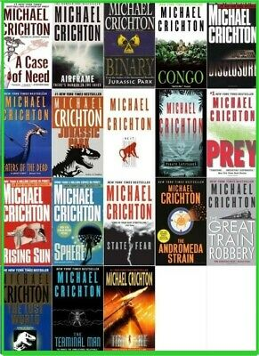 Michael Crichton Audiobook Collection Of 23 Books (Audiobook , MP3)