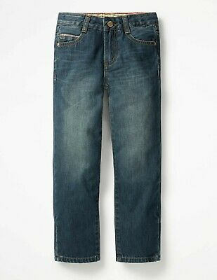 MINI Boden BOYS Straight Jeans - Mid Vintage WITH ADJUSTABLE WAISTBAND B0679 NEW