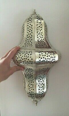 Lantern Moroccan Wall Fixure Lighting Solid Brass engraved Lamp Sconce Ceiling