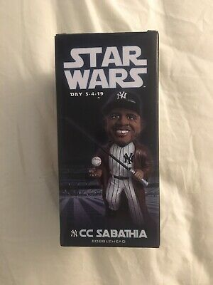 2019 New York Yankees CC Sabathia Star Wars Bobblehead SGA Jedi NY Stadium