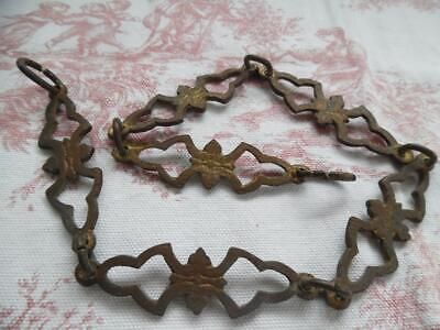 Petite Antique French Brass Chain For A Light/Chandelier - Ornate