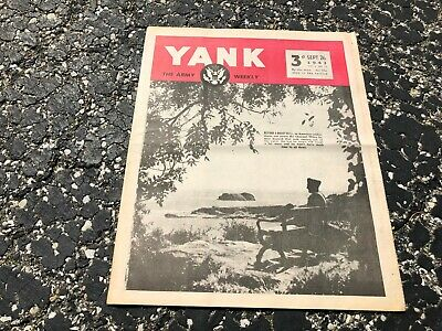 SEPT 26 1943 YANK military magazine WWII (BRITISH) pinup - ALEXIS SMITH
