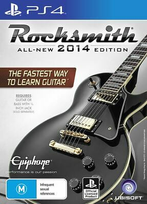 Rocksmith 2014 Edition with Real Tone Cable PS4 Brand New Sealed