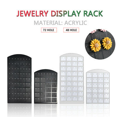 48/72 Holes Stand Organizer Holder Earring Ear Studs Jewelry Display Rack FT