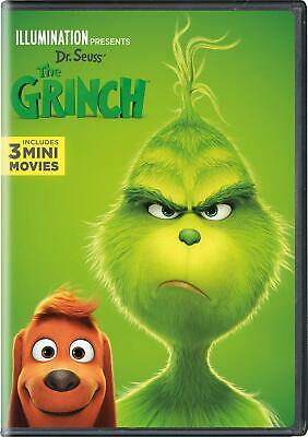 Dr Seuss' The Grinch DVD 2019 With Slipcover