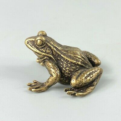 Collectible Chinese Old Antique Brass Handwork Story Frog Prince Rare Statue