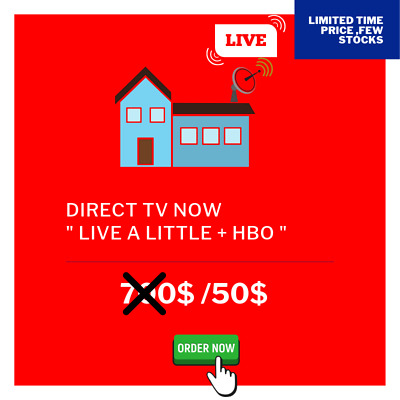 Direct TV Now + HBO - 3 Year - Live-a-Little [ Fast Delivery ]