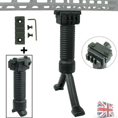 Tactical Airsoft Foregrip Bipod w/ 5 Slot Keymod Picatinny/Weaver Mount Kit New