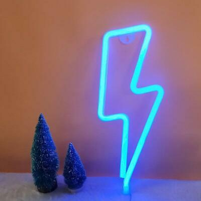 Thunder Shape Neon Sign Light Vintage Night Club Home Decor Handmade