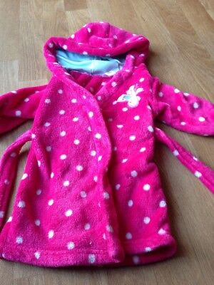 Baby Girls Bright Pink Dressing Gown