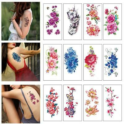 US SELLER-RUB ON tattoos for adults fish lotus flower temporary ...