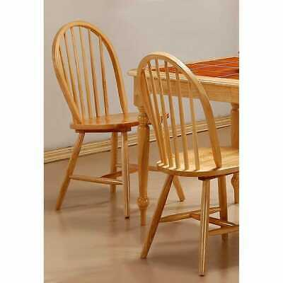 Lainie Windsor Natural Finish Spindle Back Dining Chairs (Set of 4)