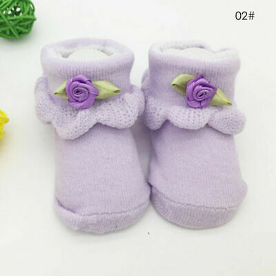 Baby Girls Frilly Bow Lace Tutu Ankle Short Socks Infant Newborn Toddler Cotton