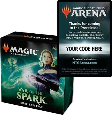 War of the Spark MTG Arena Pre-Release Code Email Only