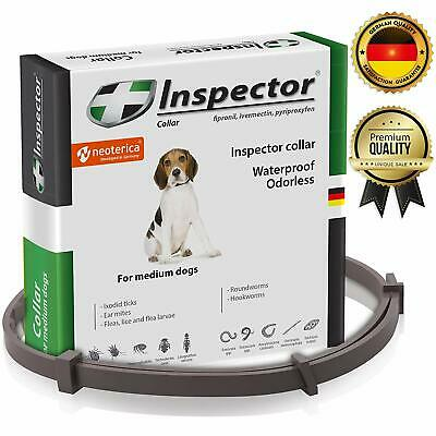 Odorless Waterproof Flea & Worm Collar for Dogs, against 11 species of parasites