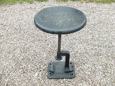 Vintage Re-Claimed Old Tram Driver's Seat / Industrial Style Stool