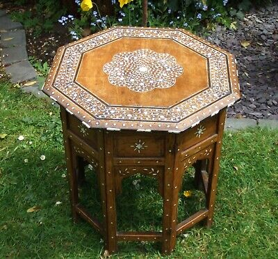 Superb Antique Anglo-Indian Decorative Inlaid Octagonal Table