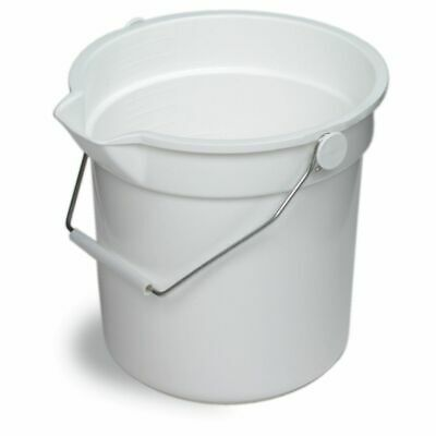 Continental 8114WH Huskee White 14 qt Bucket