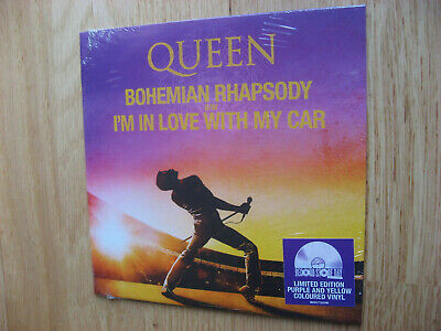 Queen Bohemian Rhapsody Split Purple & Yellow Vinyl Single RSD 2019 SEALED NEW