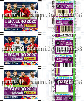 "RARE !! Pochette 6 VERSIONS ""ROAD TO EURO 2020"" bustina, packet, tüte PANINI"