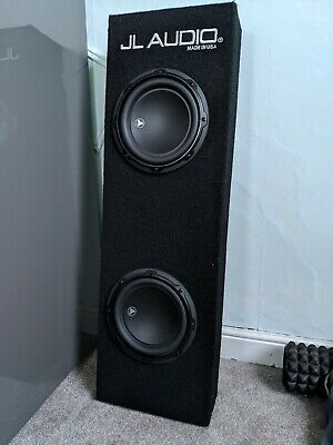 """JL Audio CP208LG-Dual 8W3v3 Power Wedge Ported MicroSub Subwoofer 8"""" 500WRMS 2Ω"""