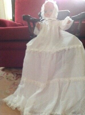 Vintage Christening Gown Cotton Voile For Vintage Doll