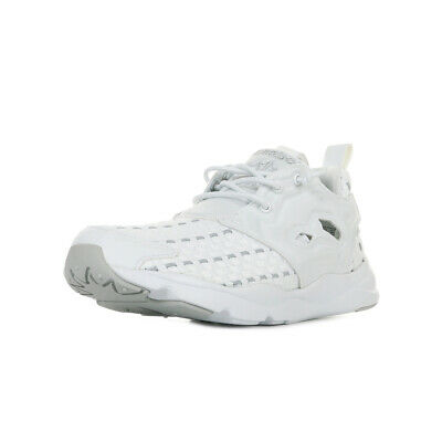 c83f6c917e526 Chaussures Baskets Reebok femme Furylite New Woven taille Blanc Blanche  Textile