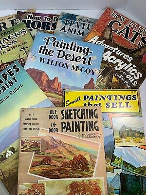 Lot of 19 Vintage Painting Books Published by Walter T. Foster. A11