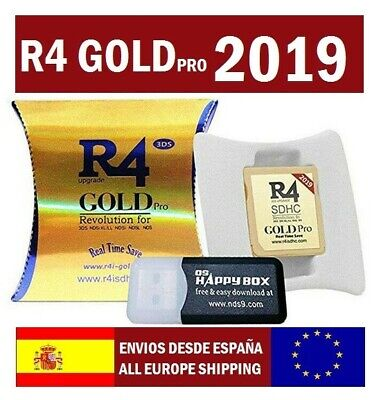 2019 R4 GOLD Pro SDHC for DS/3DS/DSI/ Revolution Cart Card