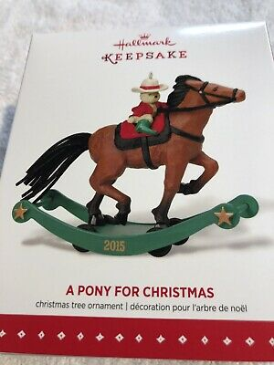 Hallmark Keepsake Ornament A Pony For Christmas, Repaint, Limited Qty., 2015