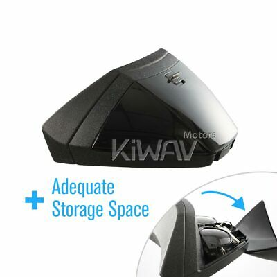 KiWAV Bee-pad backrest black with storage box for custom motorcycle scooter ε