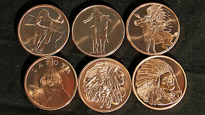1 Oz Copper Coin Native American Indian Series # 2 Copper Bullion Round Coins & Paper Money Other Bullion
