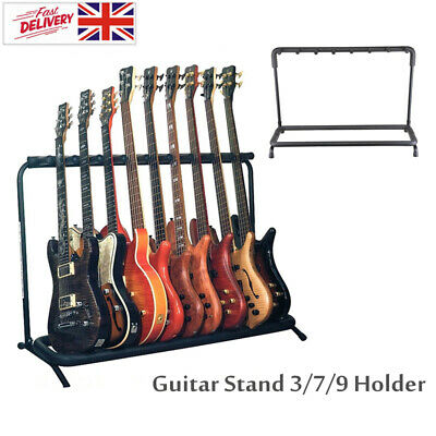 Chase Guitar Rack Stand For Multiple Guitars Electric Acoustic Bass Folding UK