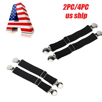 2pcs Elastic Adjustable Motorcycle Bike Leg Boot Straps Stirrup Pant Clips E99